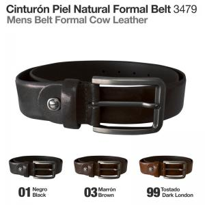 CINTURÓN PIEL NATURAL FORMAL BELT 3479
